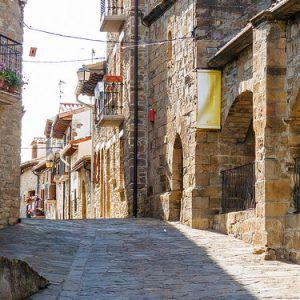 Calles empedradas del pueblo