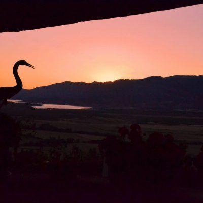 Espectacular puesta de sol desde la terraza de Casa Pedro